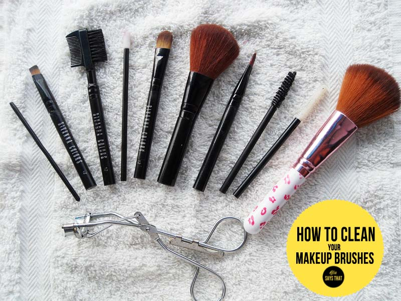 how to clean your makeup brushes. Black Bedroom Furniture Sets. Home Design Ideas
