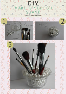 diy tutorial  makeup brush stand
